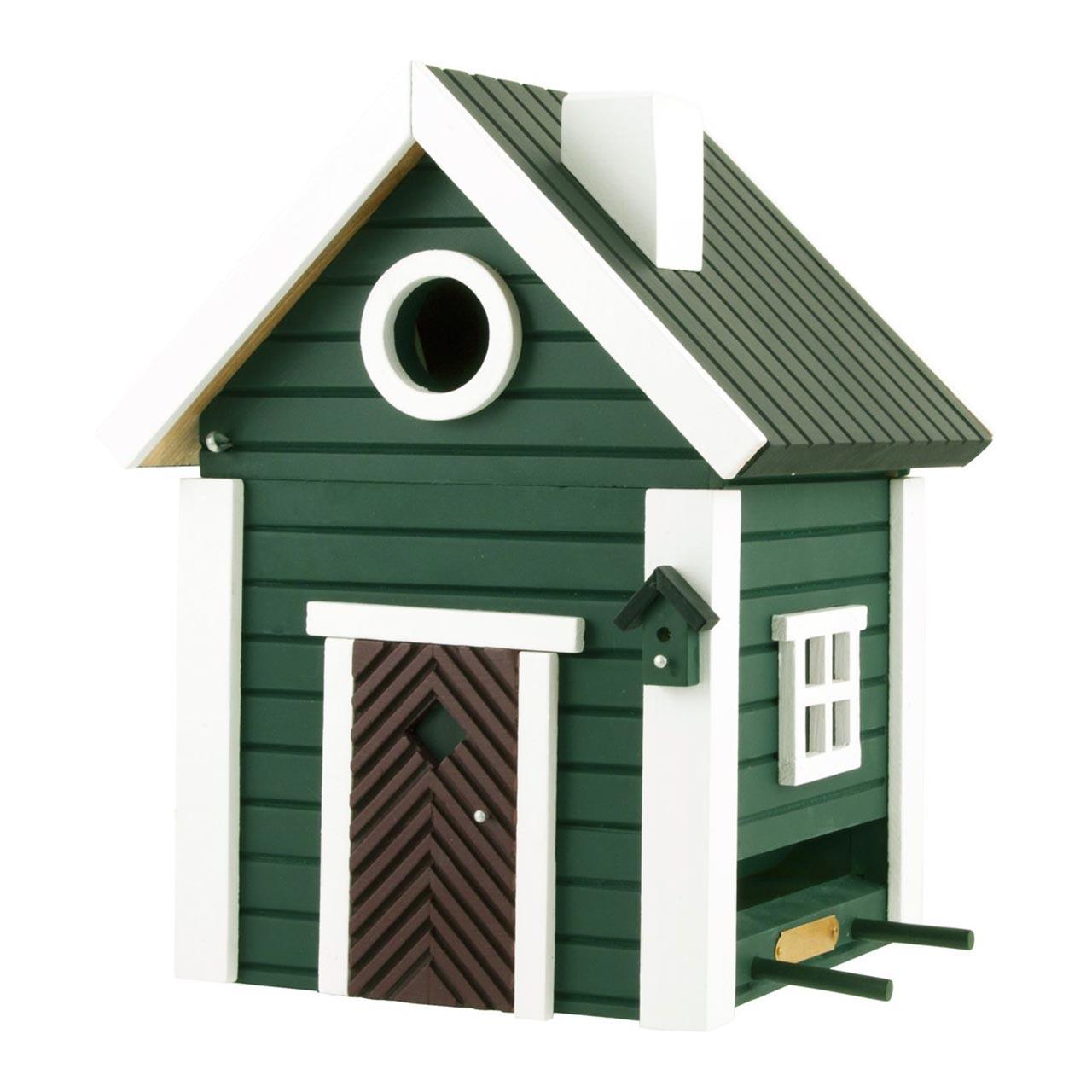 WILDLIFE GARDEN Bird Feeder & Nesting Box Green Cottage   the design gift shop