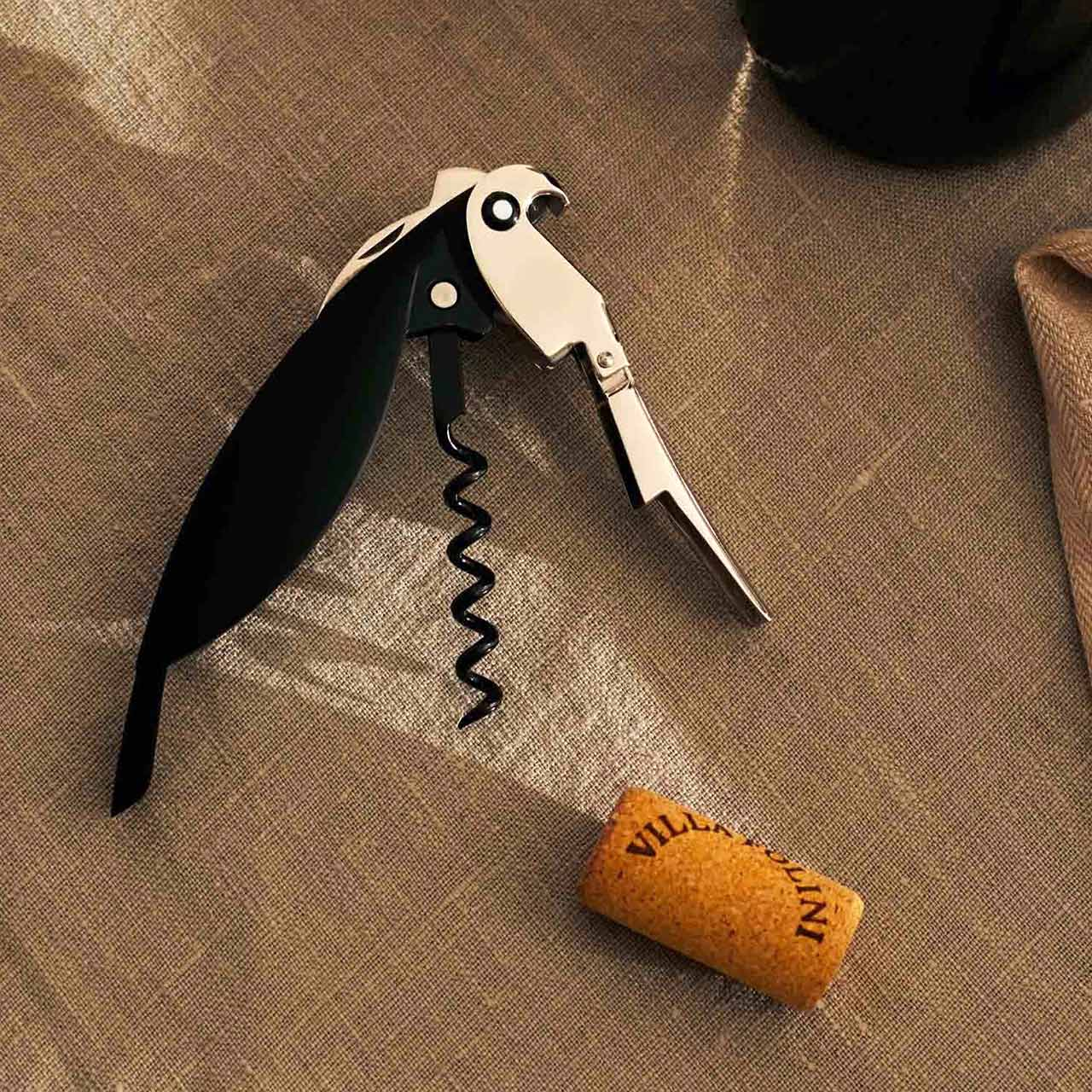 ALESSI PARROT Black Sommelier Corkscrew   the design gift shop