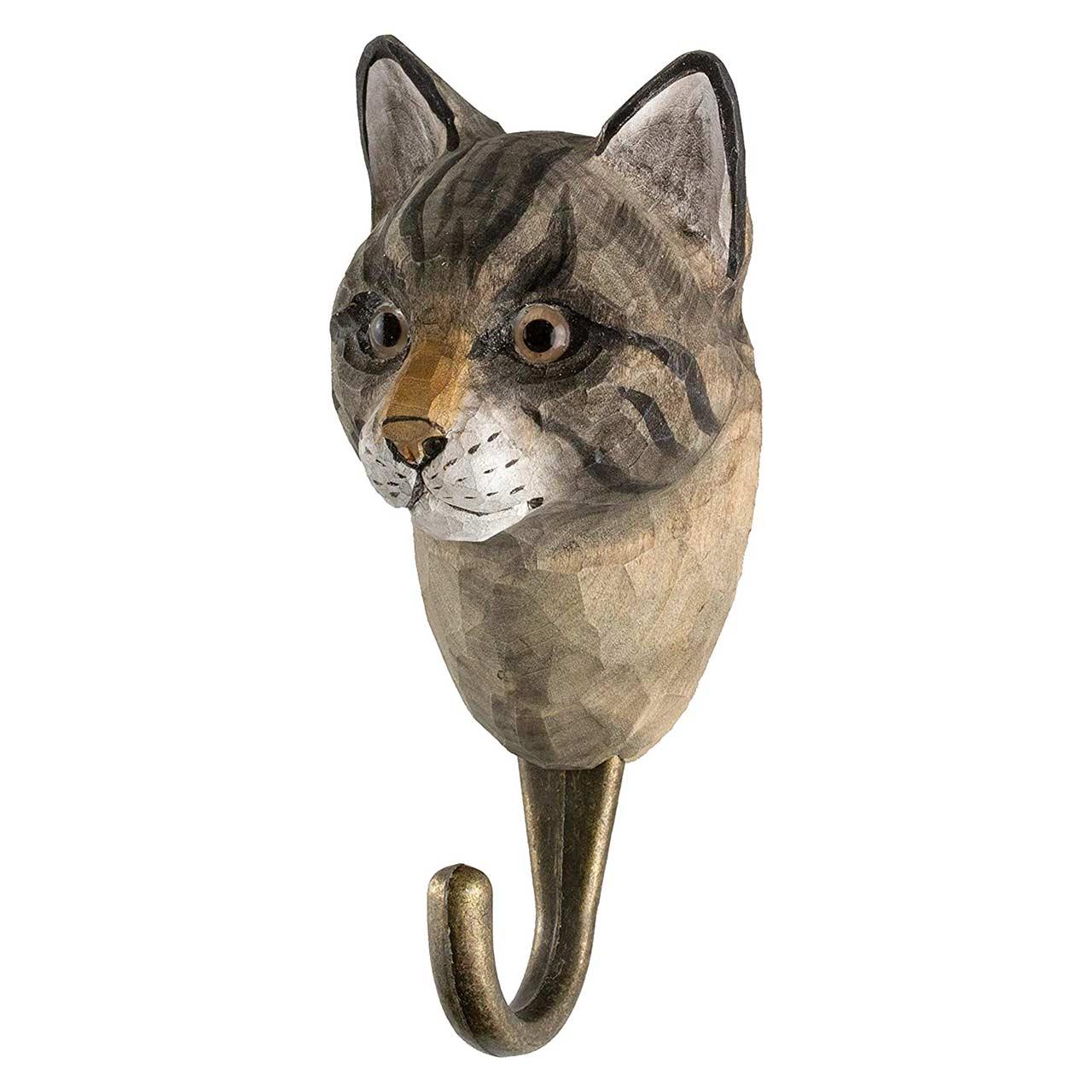 WILDLIFE GARDEN Wall Hook Cat   the design gift shop