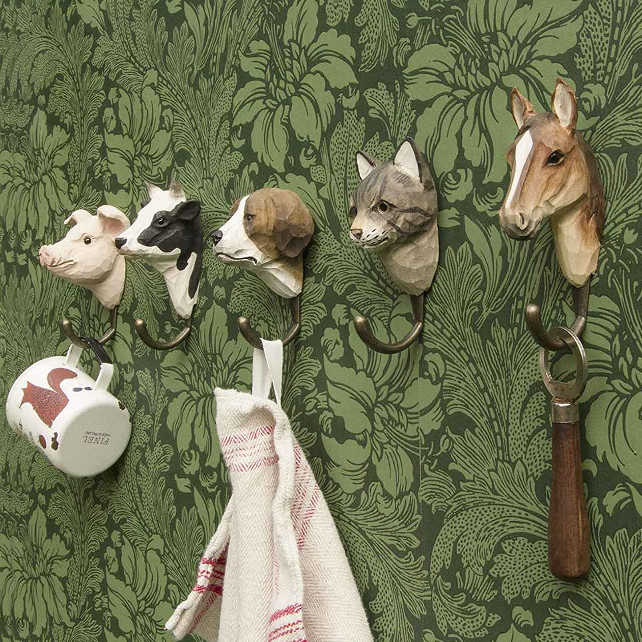 WILDWILD LIFE GARDEN Wall Hooks (only pig hook incl. in offer) | the design gift shop