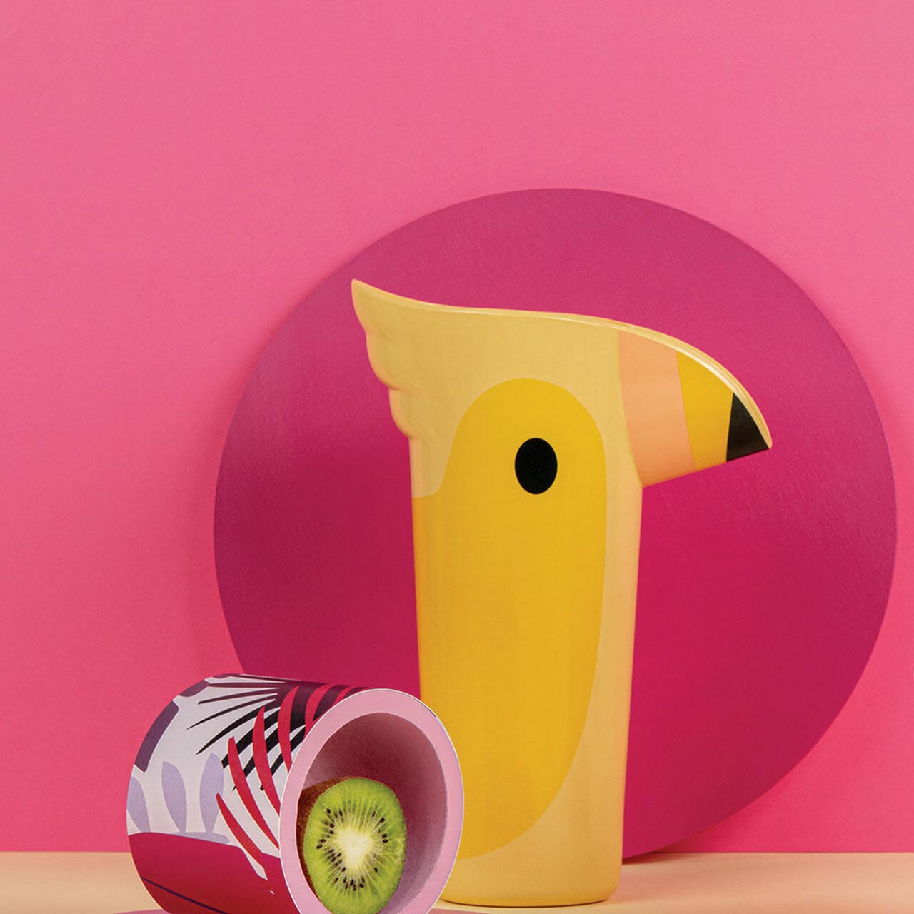 Toucan Polly Pitcher in Yellow by Ototo   the design gift shop