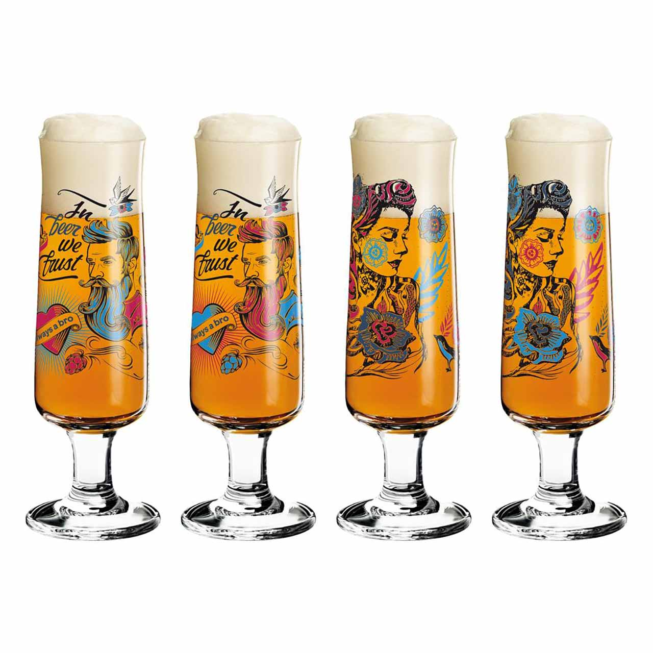 RITZENHOFF Beer Design Bonus Glass Set of 4   the design gift shop