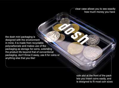 DOSH WALLET, transparent coin box