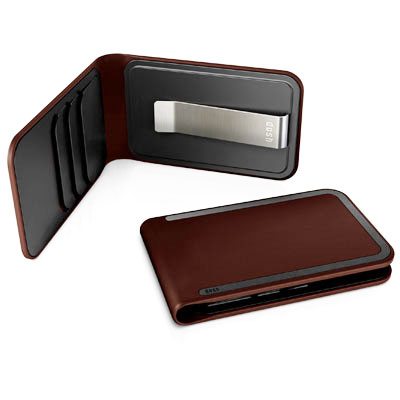 DOSH LUXE WALLET, 3 card and money clip, Style Whiskey