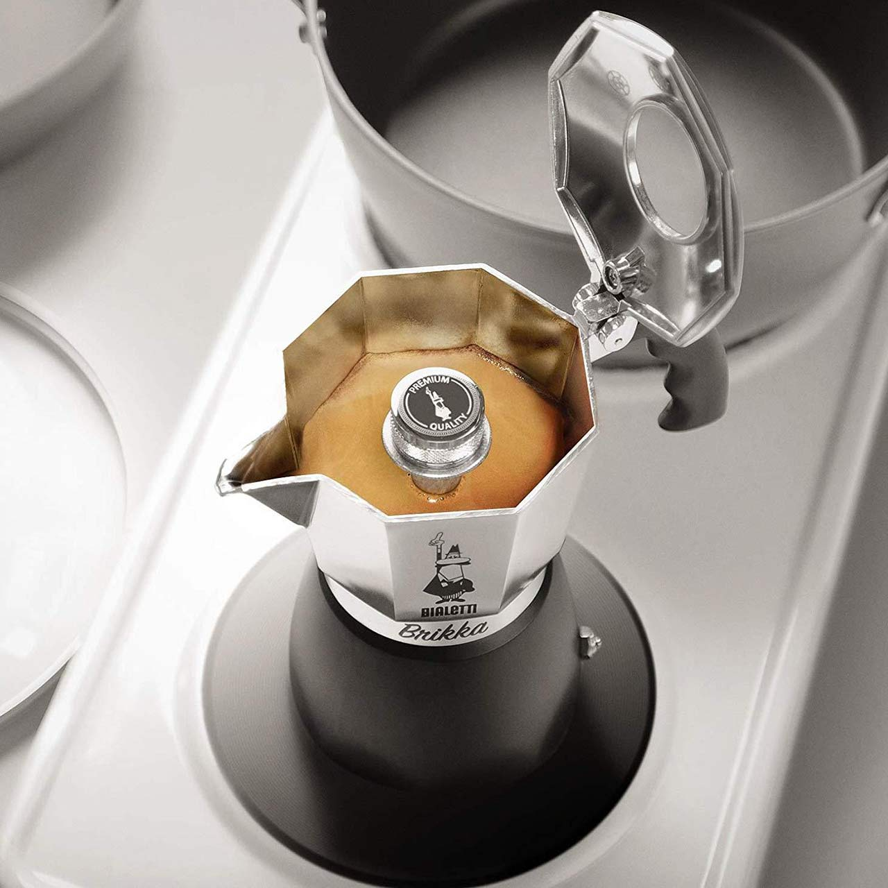 BIALETTI Brikka  2 Cup Espresso Coffee Maker | the design gift shop