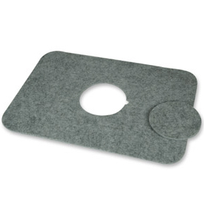 MILK & SUGAR Felt Placemat GREY