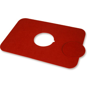 MILK & SUGAR Felt Placemat RED