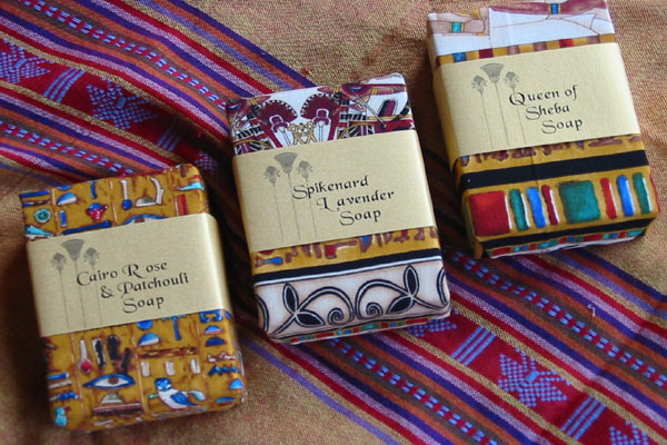 THURLBY LUXOR SOAP  fragrances - Cairo Rose & Patchouli, Queen of Sheba or Spikenard Lavender