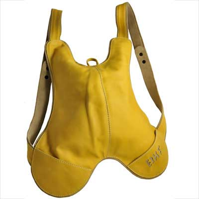 MI-cuero / HUMAWACA - BKF- Backpack, colour YELLOW / SESAME