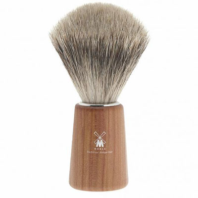 Muhle Shaving Basic H22 shaving brush, fine best badger hair, handle plum wood | the design gift shop