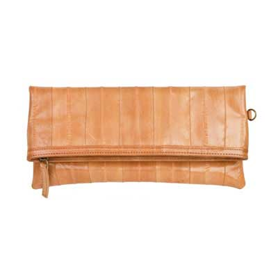 NAOMI LEVI  - MEDIUM FOLD CLUTCH  colour BEIGE