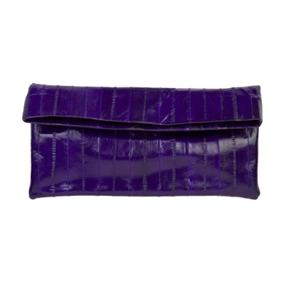 NAOMI LEVI  - MEDIUM FOLD CLUTCH  colour ELECTRIC PURPLE