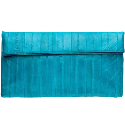 NAOMI LEVI  - LARGE FOLD CLUTCH  colour AQUA LAGUNA (or LAGUNA TURQUOISE)