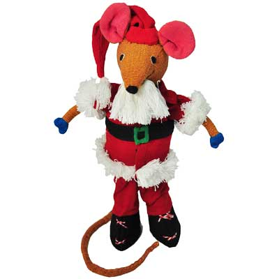 BAREFOOT TOYS, SANTA CLAUS MOUSE, 28 cm tall