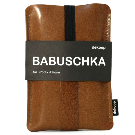 DEKOOP | iPhone 3 & 4, iPod & Blackberry Case | Babuschka Leather Brown