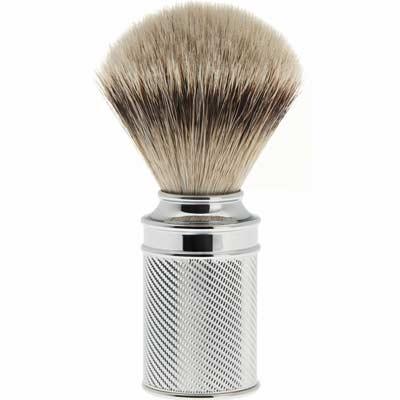 MUEHLE shaving brush M89, silver tip badger hair, chrome handle