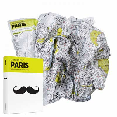 CRUMPLED CITY MAPS - PARIS