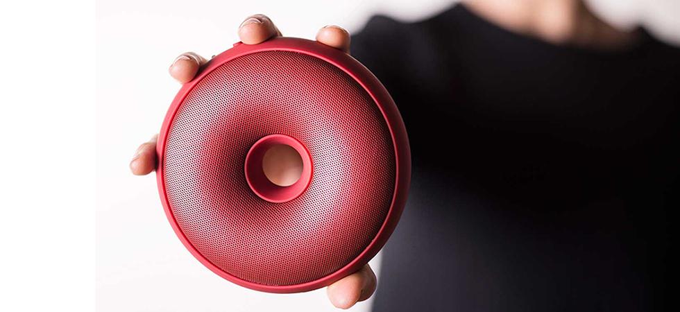 Bluetooth Speaker Lexon Hoop Red