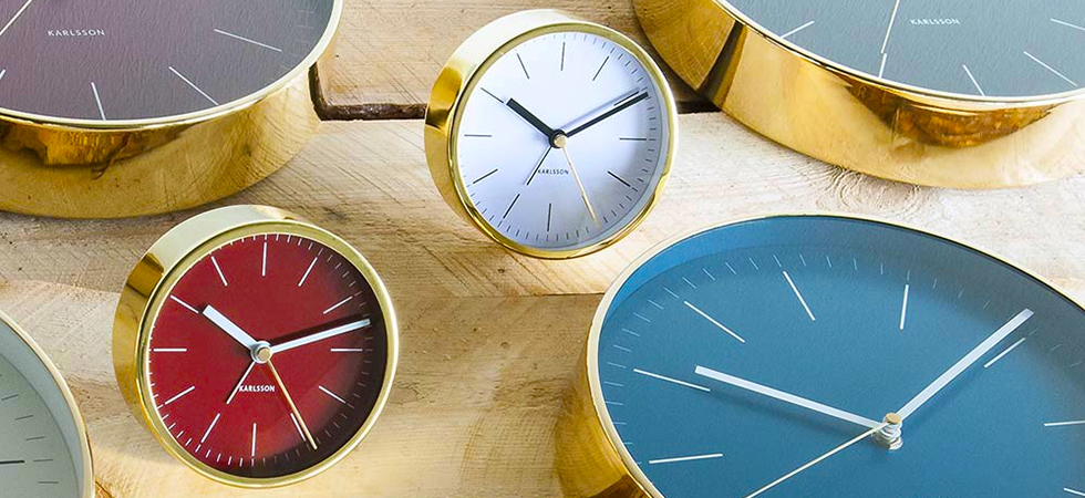 Karlsson Clocks, wall clocks, alarm clocks, desk clocks