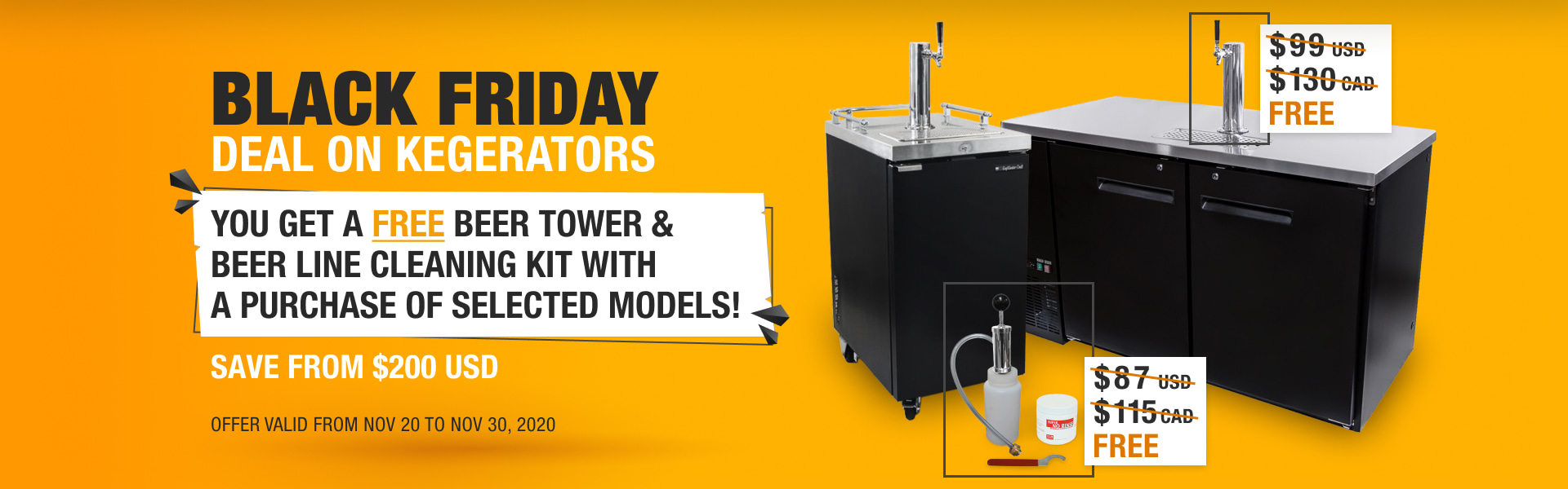 Black Friday Deals on Commercial Kegerators 2020