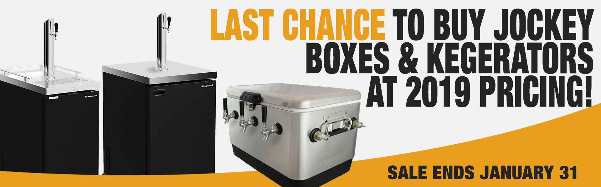 Kegerator and Jockey Box Sale January 2020