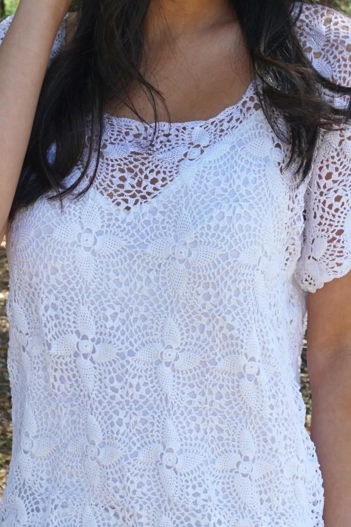 Santa Carmela Crochet Top