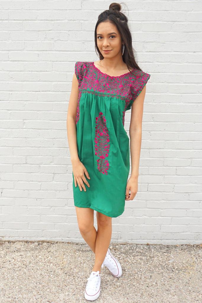 Green Mexican Dress
