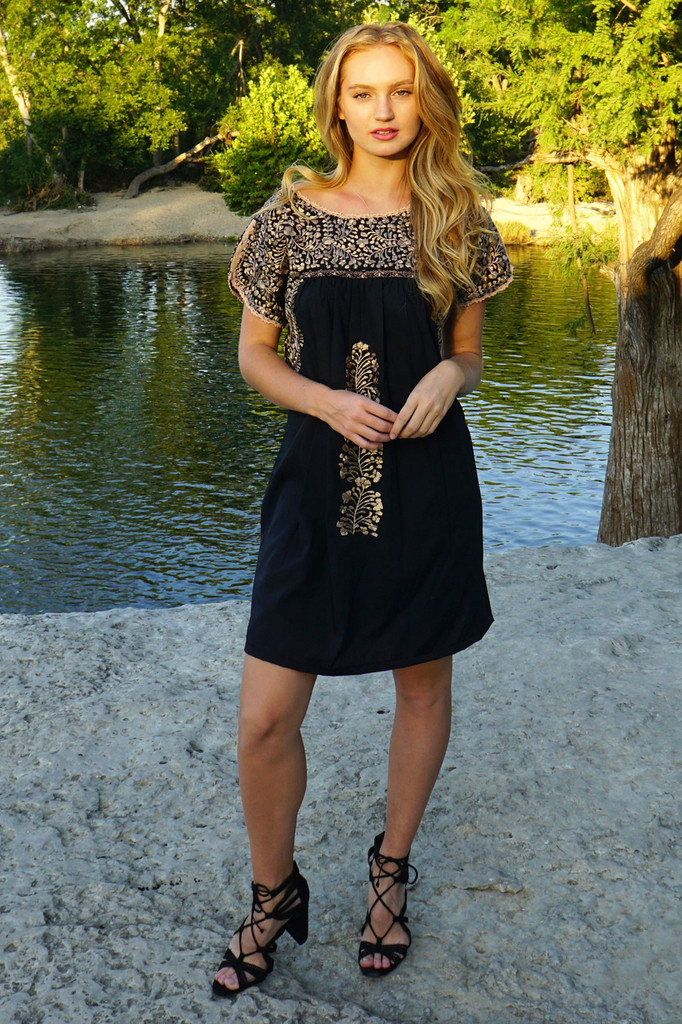 """""""Coqueta"""" Mexican Dress with Sleeves"""