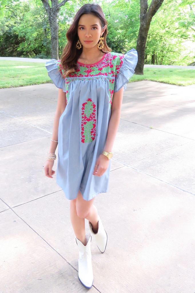 """""""Amor del bueno"""" Mexican Dress"""