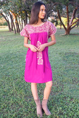 """Dalia"" Mexican Dress with Sleeves"