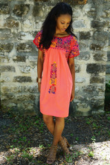 """Dulce Sandia"" Mexican Dress with Sleeves"
