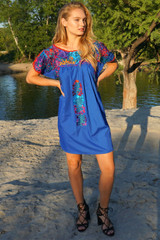 """Alta Mar"" Mexican Dress with Sleeves"