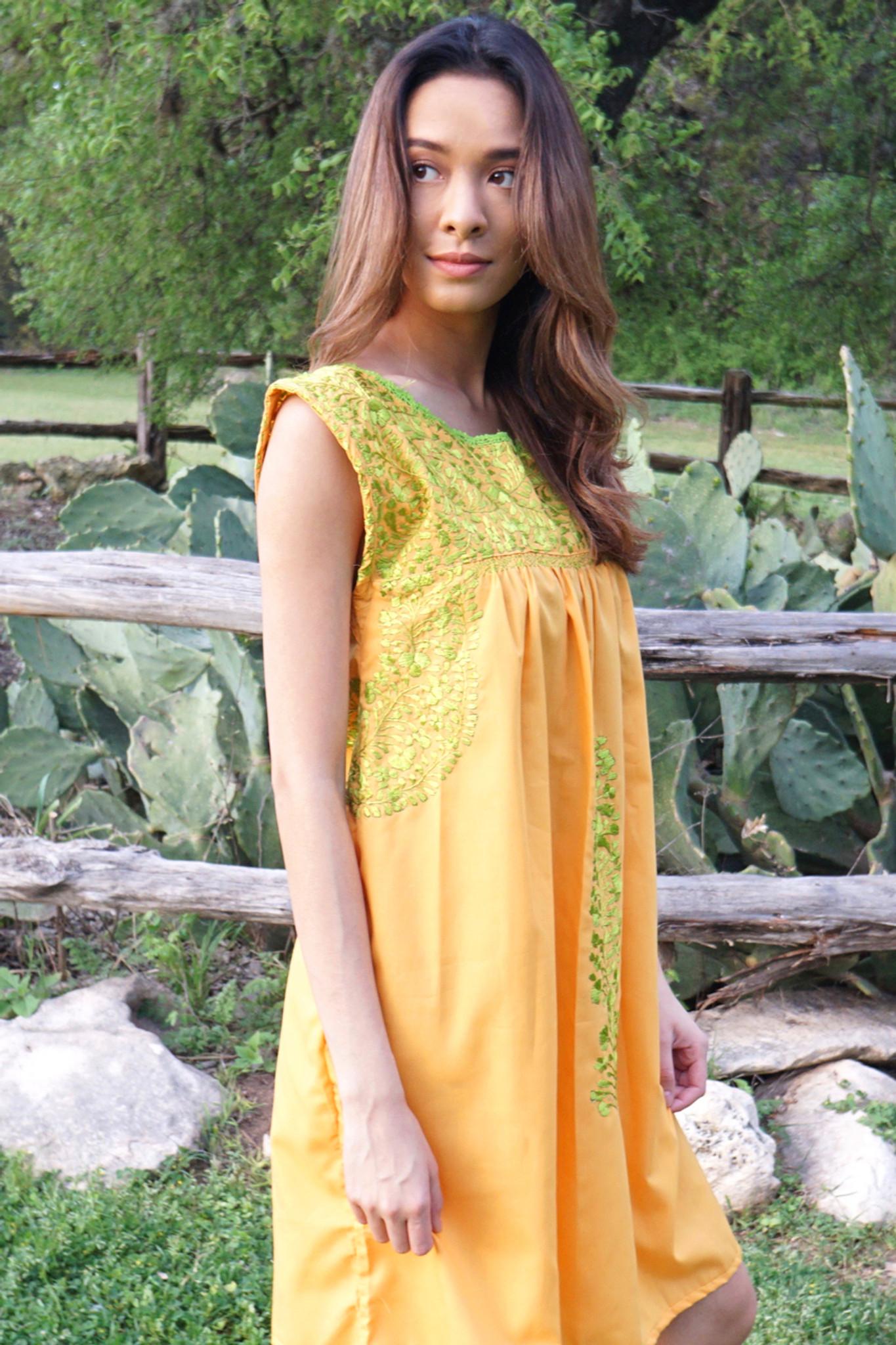 """""""Naranjal"""" Mexican Dress"""