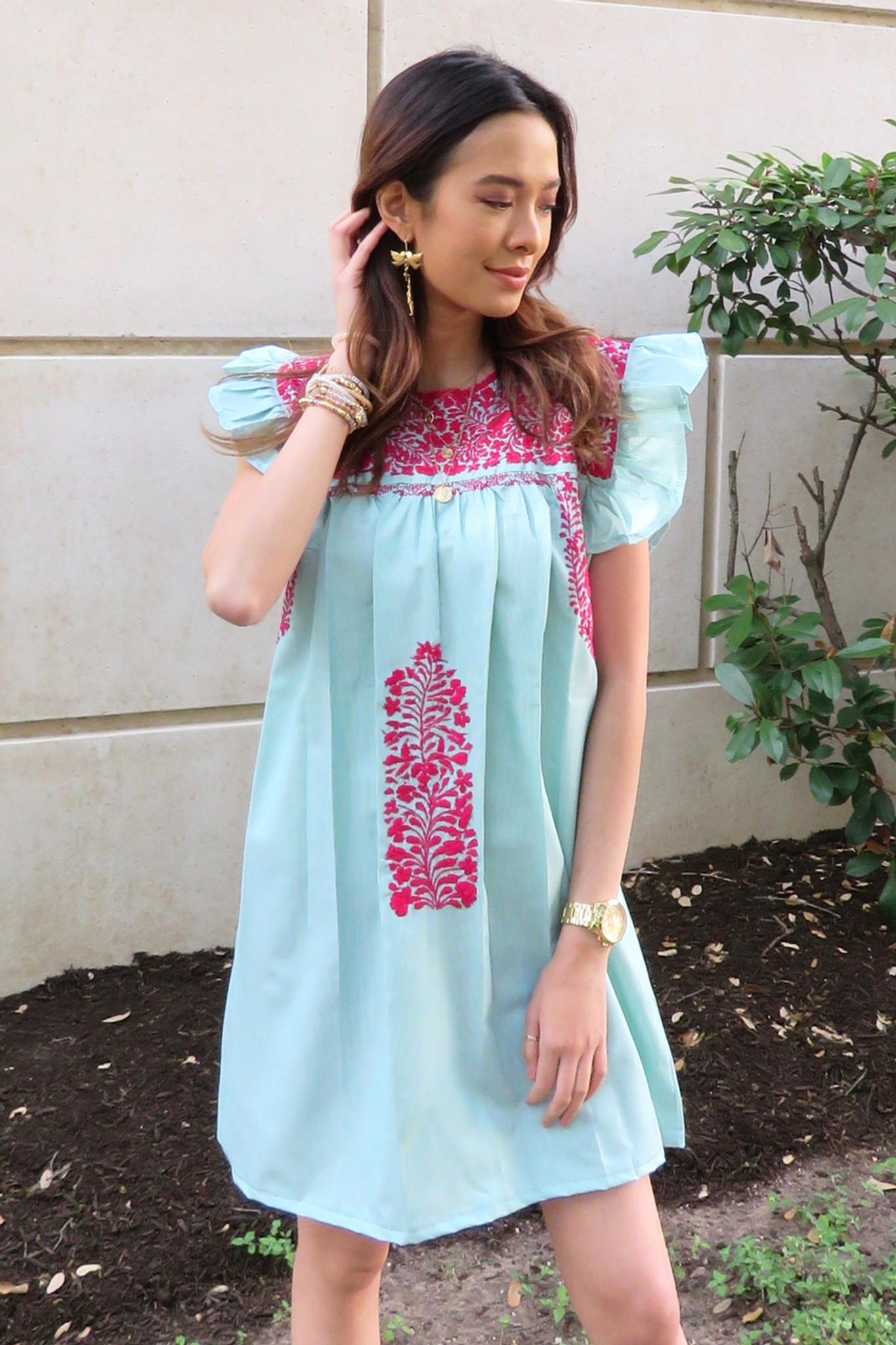 """""""La Pradera"""" Mexican Dress"""