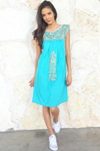 """Turquesa"" Mexican Dress"