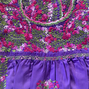 """""""Lavanda"""" Mexican Top with Sleeve Option"""
