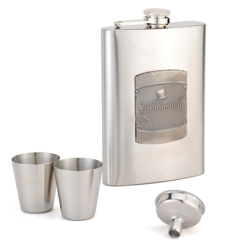 8oz Flask Groomsman