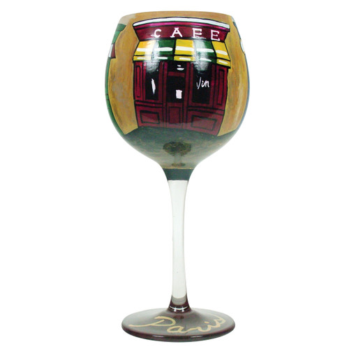 Hand Painted Red Wine Paris