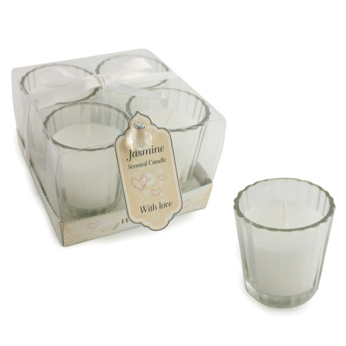 Jennifer Wedding Day Candle Set x4