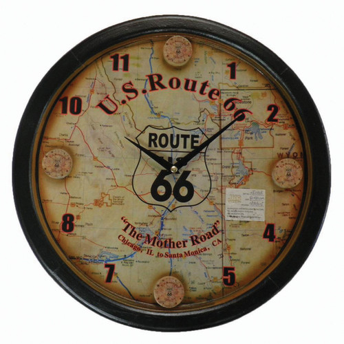 Wall Clock Route 66