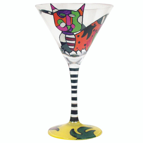 Hand Painted Martini Picatso