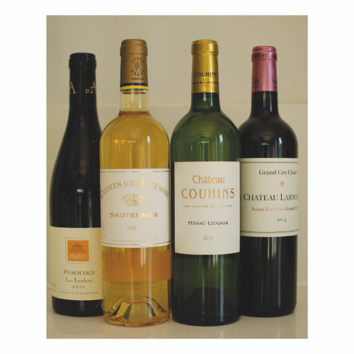 Christmas Pack  - Bordeaux and Burgundy wine regions -  4 bottles - FREE DELIVERY
