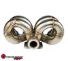 SPEEDFACTORY RACING STAINLESS STEEL TURBO MANIFOLD RAM HORN STYLE D SERIES T4 FLANGE W 38-40MM 2 BOLT WG