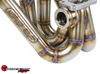 SPEEDFACTORY RACING STAINLESS STEEL TURBO MANIFOLD TOP MOUNT STYLE B-SERIES T4 DIVIDED FLANGE W TWIN 44-46MM WG