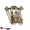 SPEEDFACTORY RACING STAINLESS STEEL TURBO MANIFOLD TOP MOUNT STYLE B-SERIES T4 OPEN FLANGE W SINGLE 60MM V-BAND WG