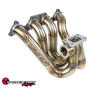 SPEEDFACTORY RACING STAINLESS STEEL TURBO MANIFOLD TOP MOUNT STYLE H-SERIES T4 FLANGE W 44-46MM V-BAND WG