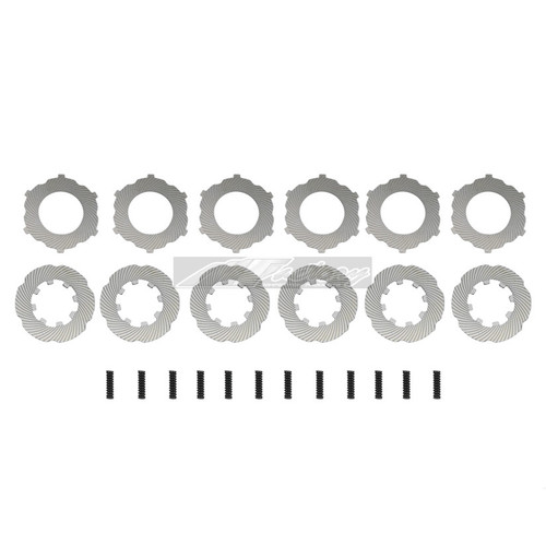 MFACTORY METAL PLATE LSD DIFFERENTIAL REPLACEMENT SPRINGS + PLATES - 12PC + SPRINGS (SS) - HONDA V2 LSD ONLY