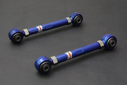 HARDRACE ADJUSTABLE REAR FRONT LATERAL ARM WITH HARDENED RUBBER BUSHES 2PC SET SUBARU LEGACY BE BH BL BP OUTBACK