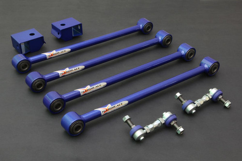 HARDRACE ADJUSTABLE REAR LATERAL ARMS AND DROP LINKS WITH HARDENED RUBBER BUSHES 8PC SET SUBARU IMPREZA GC