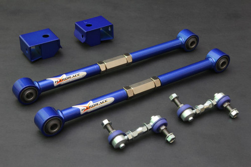 HARDRACE ADJUSTABLE REAR REAR LATERAL ARMS WITH HARDENED RUBBER BUSHES 6PC SET SUBARU IMPREZA GC GG LEGACY BD BH